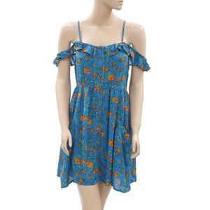 Kimchi Blue UrbanOutfitters Printed Tiered Dress S